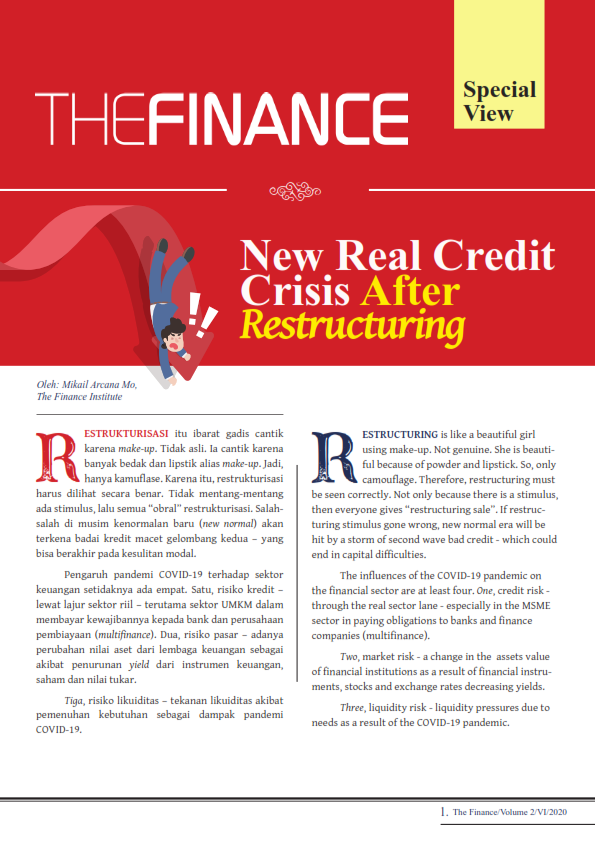 The Finance Edisi Bulan Juni 2020 : New Real Credit Crisis After  Restructuring (Free)